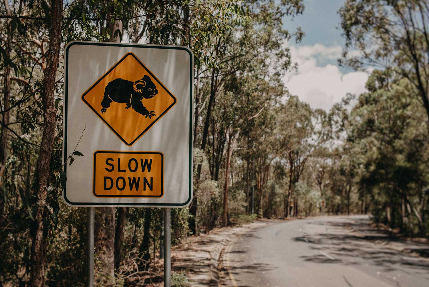 Road sign on route to Anna Meares Velodrome in Brisbane Australia