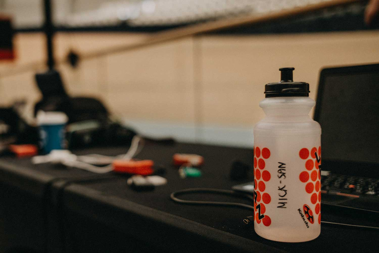 Cycling drink bottle of Japanese track cycling